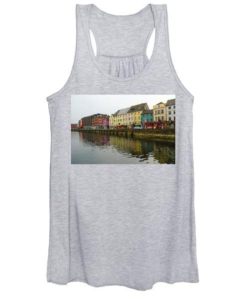 Row Homes On The River Lee, Cork, Ireland Women's Tank Top