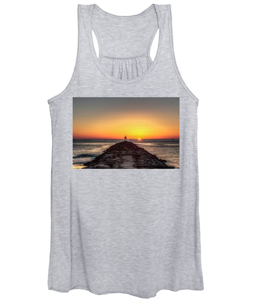 Women's Tank Top featuring the photograph Rudee Inlet Jetty by Pete Federico