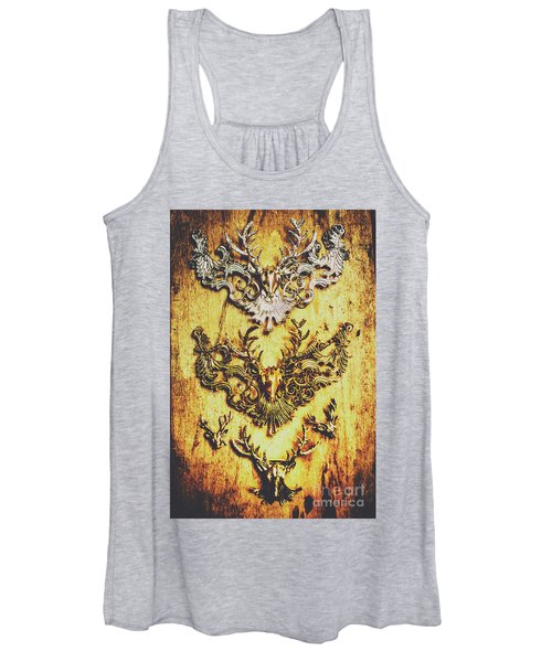 Rustic Country Style Jewels  Women's Tank Top