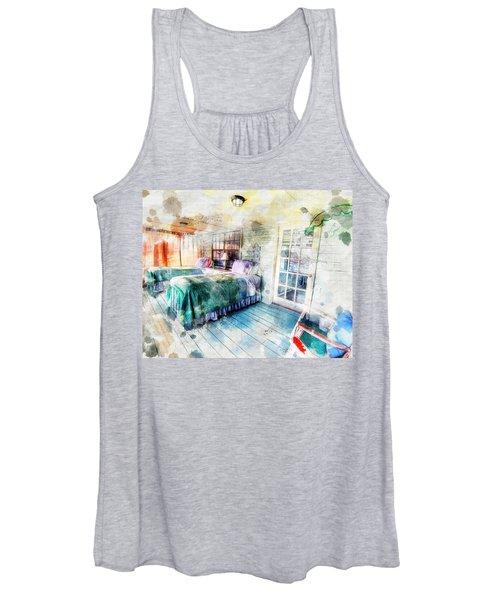 Rustic Look Bedroom Women's Tank Top