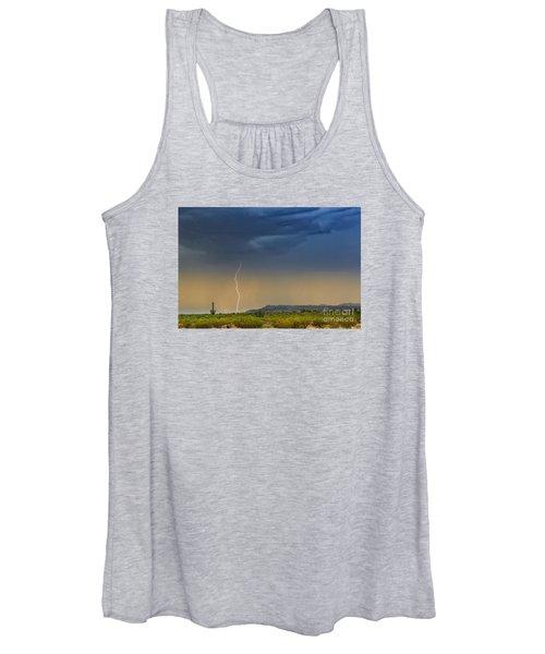Saguaro With Lightning Women's Tank Top