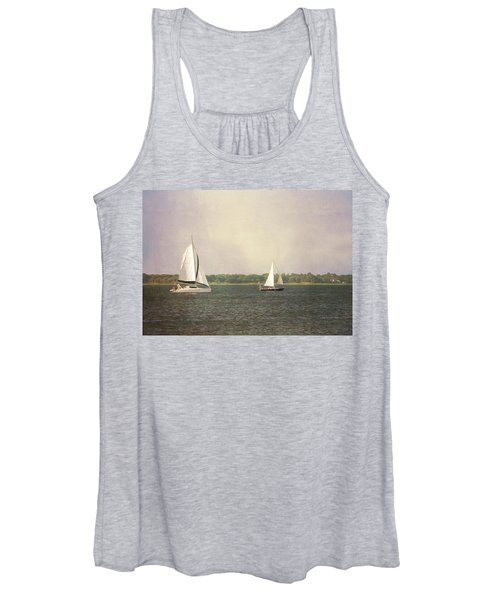 Women's Tank Top featuring the photograph Sailing by Michael Colgate