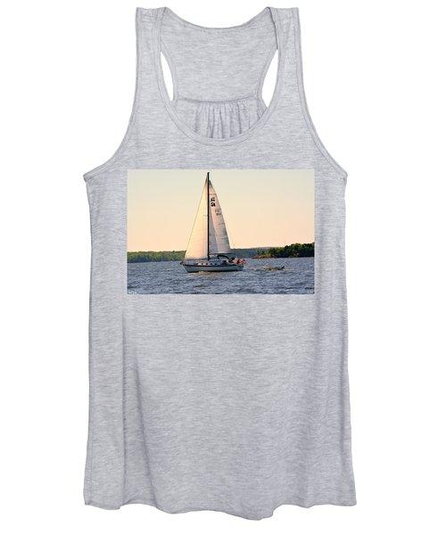 Sailing On Lake Murray Sc Women's Tank Top