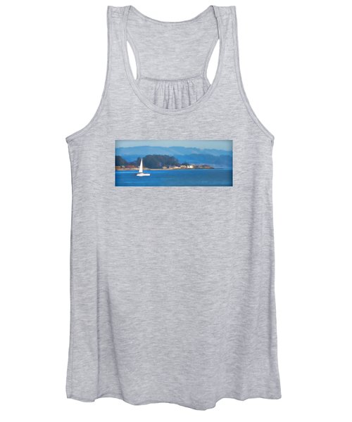 Sailing On The Monterey Bay Women's Tank Top