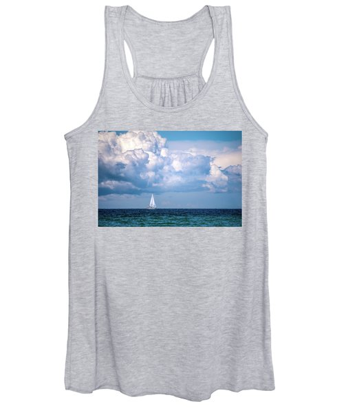 Sailing Under The Clouds Women's Tank Top