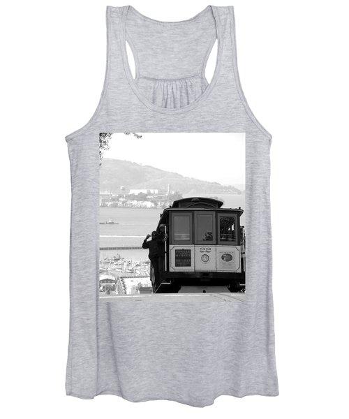 San Francisco Cable Car With Alcatraz Women's Tank Top