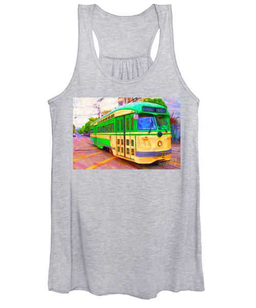San Francisco F-line Trolley Women's Tank Top