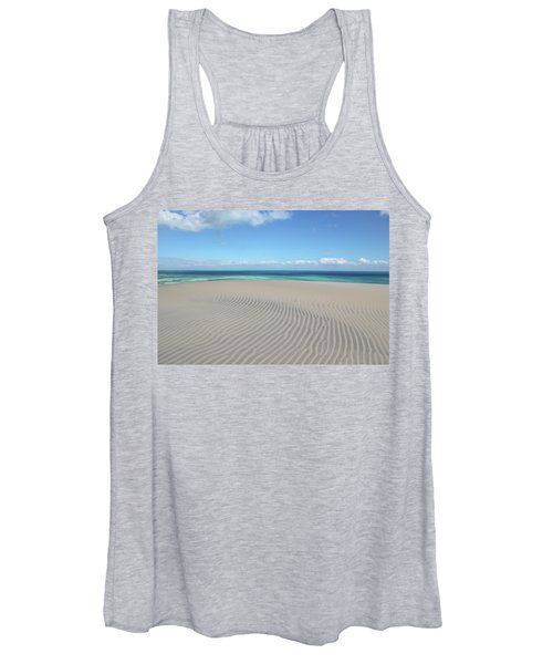Sand Dune Ripples And The Ocean Beyond Women's Tank Top