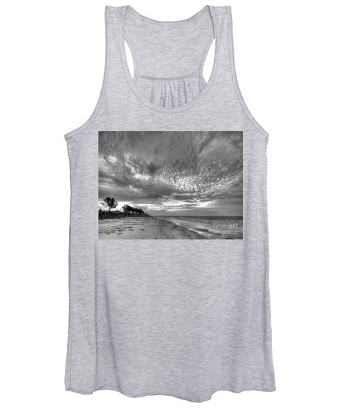 Sanibel Island Sunrise In Black And White Women's Tank Top