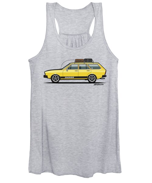 Saturn Yellow Volkswagen Dasher Wagon Women's Tank Top