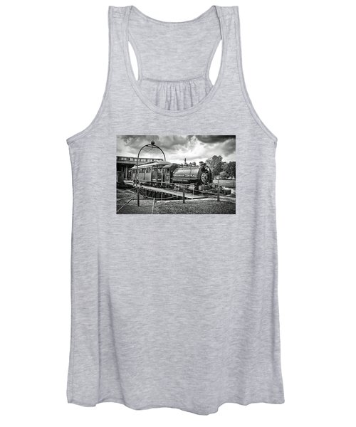 Savannah Central Steam Engine On Turn Table Women's Tank Top