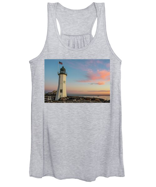 Scituate Lighthouse Scituate Massachusetts South Shore At Sunrise Women's Tank Top