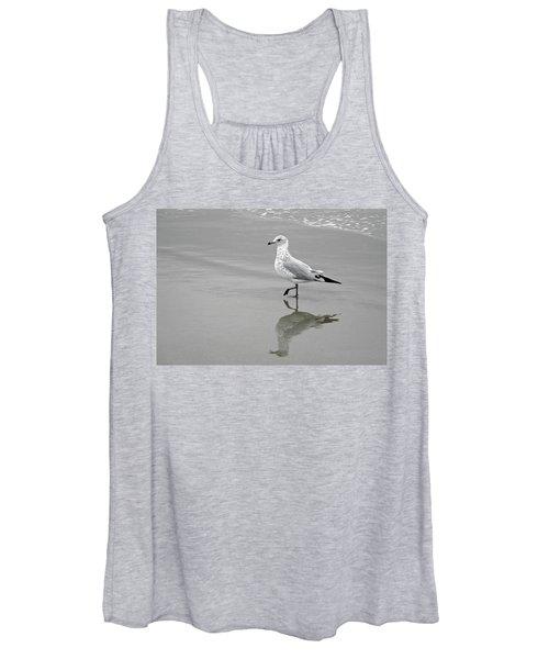 Sea Gull Walking In Surf Women's Tank Top