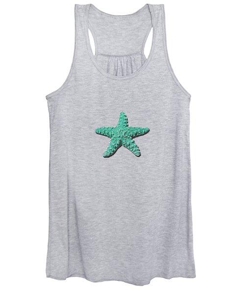Sea Star Aqua .png Women's Tank Top
