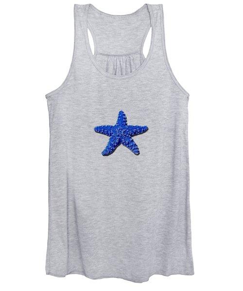 Sea Star Navy Blue .png Women's Tank Top