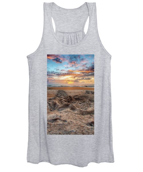 Sea Turtle Trails Women's Tank Top