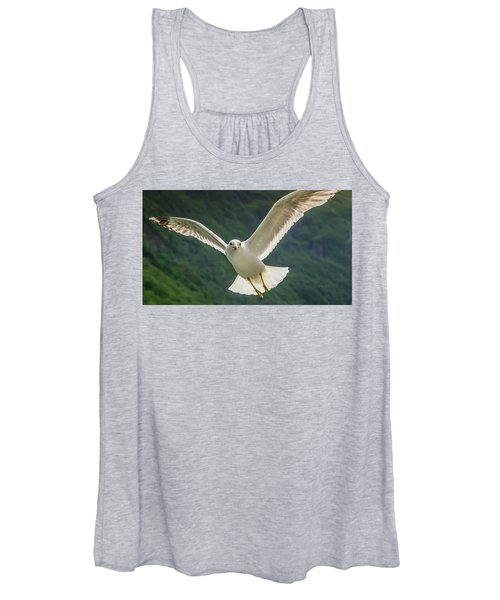 Seagull At The Fjord Women's Tank Top