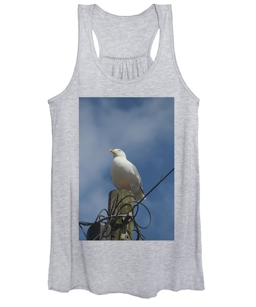 Seagull Perching. Women's Tank Top