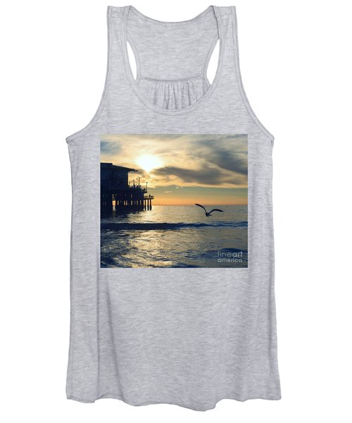 Seagull Pier Sunrise Seascape C2 Women's Tank Top