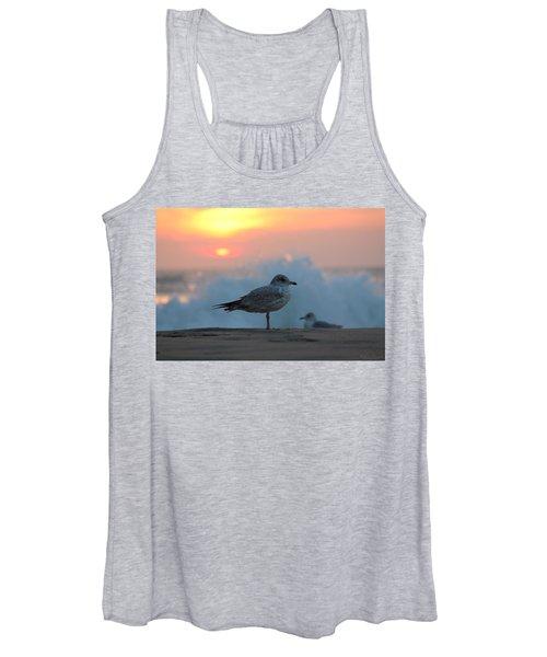 Seagull Seascape Sunrise Women's Tank Top