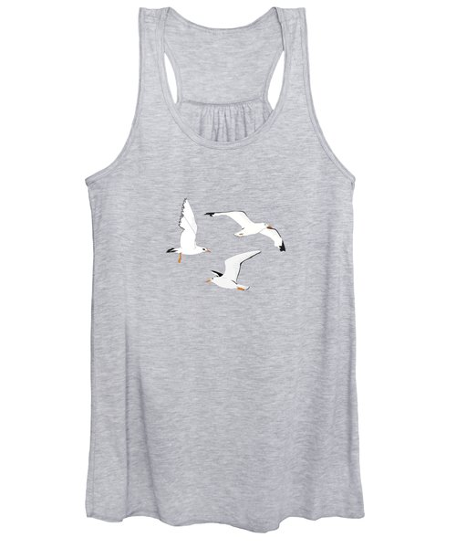 Seagulls Gathering At The Cricket Women's Tank Top