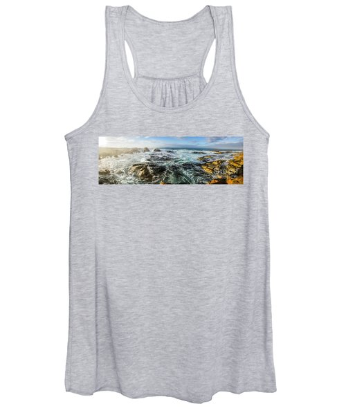 Seas Of The Wild West Coast Of Tasmania Women's Tank Top