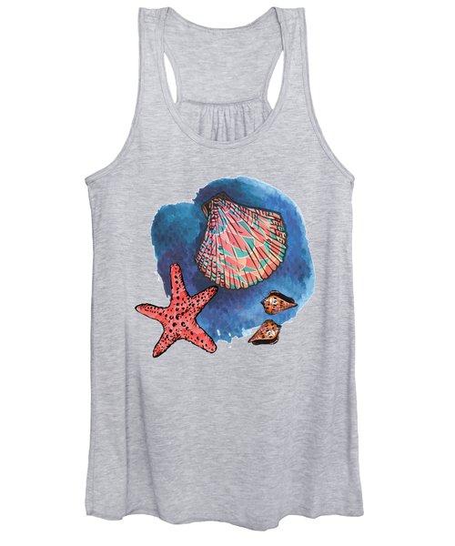 Seashells And Starfish Women's Tank Top
