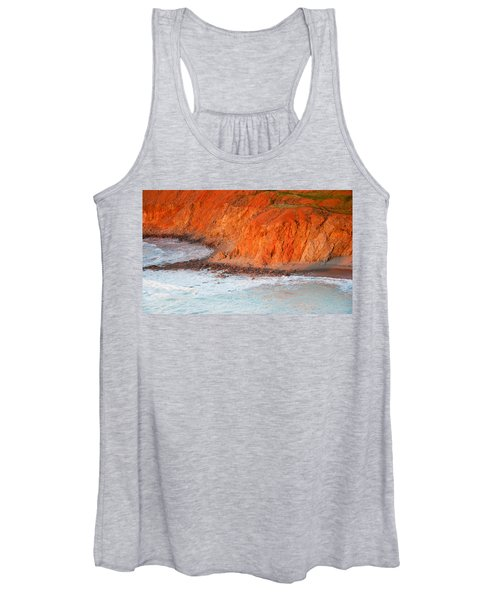 Seaside Cliff Bathed In Afternoon Light Women's Tank Top