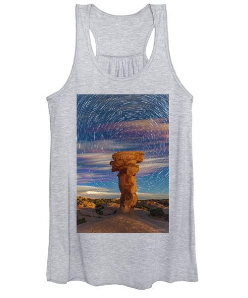 Secret Spire And Star Trails Women's Tank Top