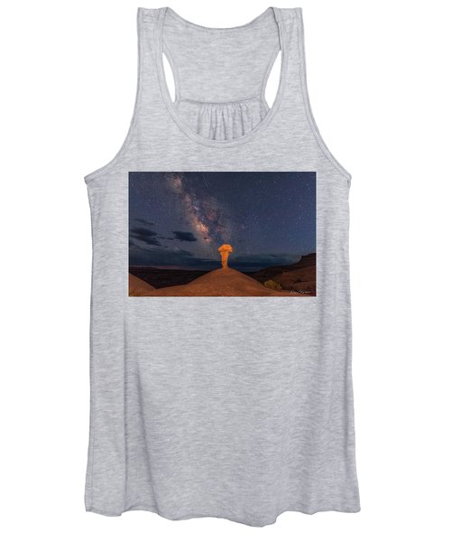 Secret Spire And The Milky Way Horizontal Women's Tank Top