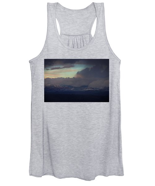 Sedona At Sunset With Red Rock Snow Women's Tank Top