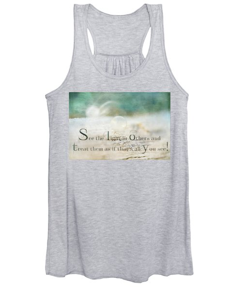 See The Light In Others Women's Tank Top