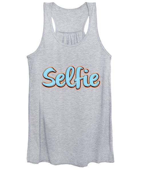 Women's Tank Top featuring the digital art Selfie Tee by Edward Fielding
