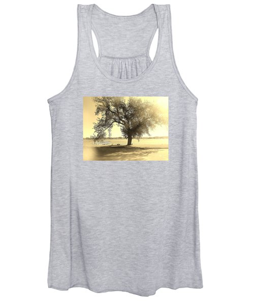 Sepia Colors In A Tree Women's Tank Top