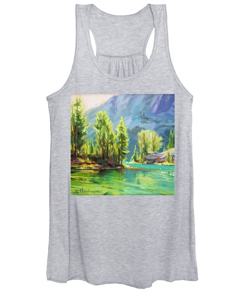 Shades Of Turquoise Women's Tank Top