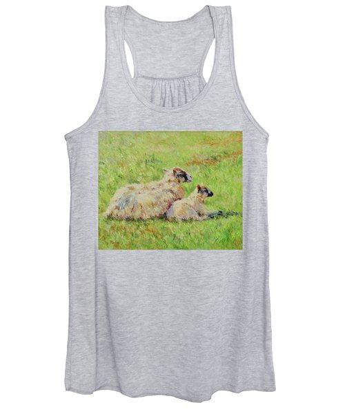 Sheep In The Spring Time,la Vie Est Belle Women's Tank Top