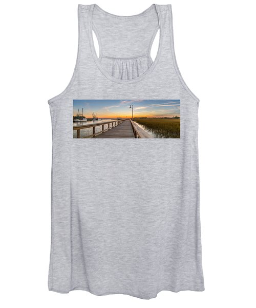 Shem Creek Pier Panoramic Women's Tank Top