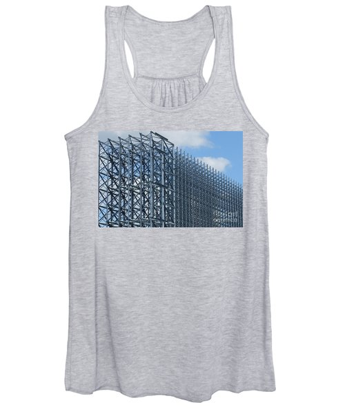 Shiny Steel Construction In Nature Women's Tank Top
