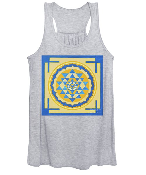 Shri Yantra For Meditation Painted Women's Tank Top