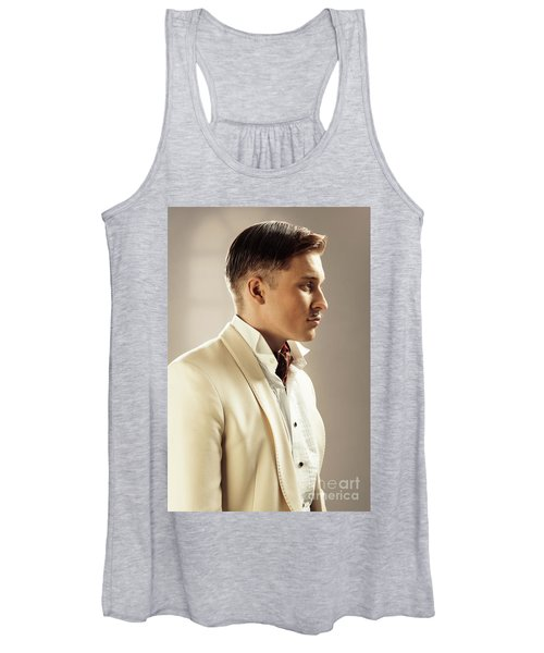 Side Profile Of Character Playing Errol Flynn Women's Tank Top