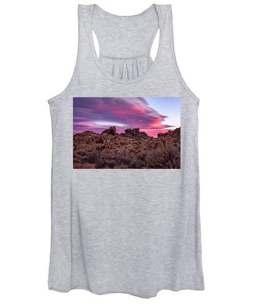 Sierra Clouds At Sunset Women's Tank Top
