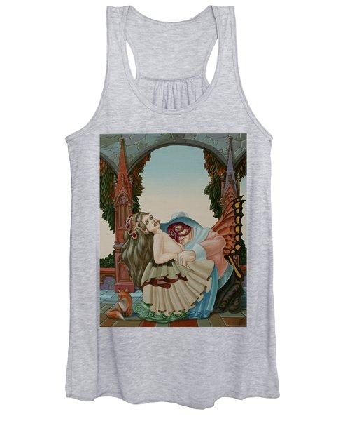 Sigmund Freud With A Fox Women's Tank Top
