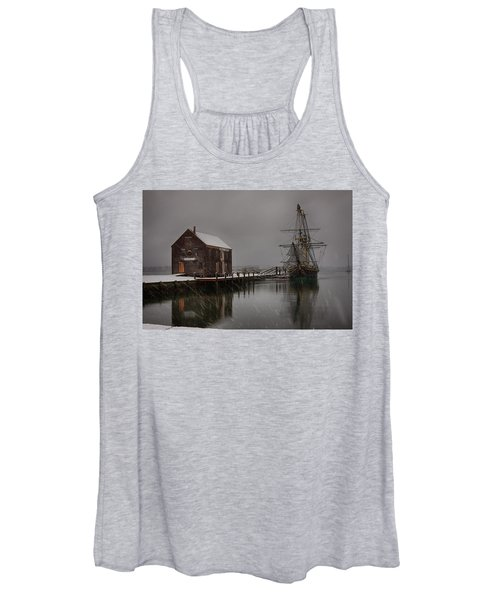 Silently The Snow Falls. Women's Tank Top
