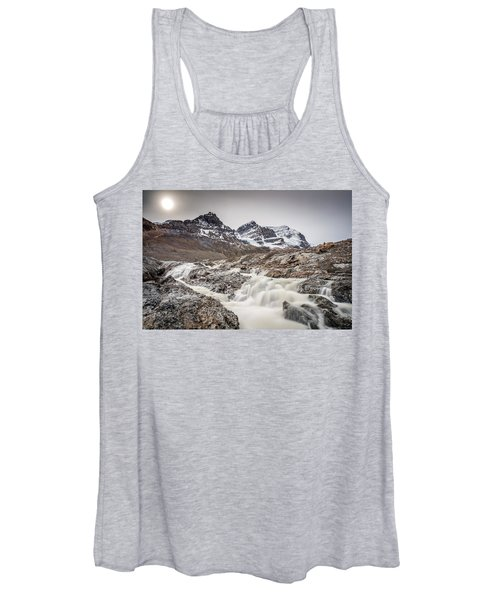 Silky Melt Water Of Athabasca Glacier Women's Tank Top