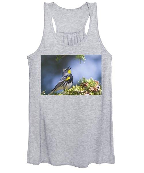 Singing Audubon's Warbler Women's Tank Top