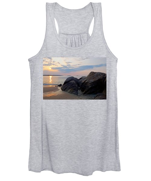 Singing Beach Rocky Sunrise Manchester By The Sea Ma Women's Tank Top