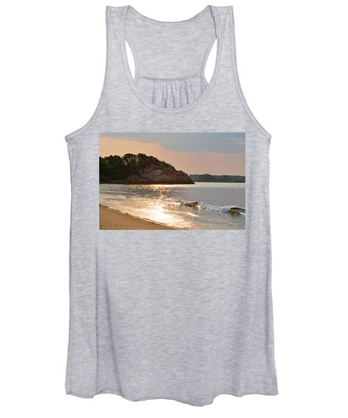 Singing Beach Silver Waves Manchester By The Sea Ma Women's Tank Top