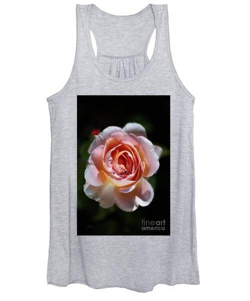Single Romantic Rose  Women's Tank Top