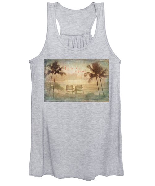 Sit With Me On The Beach Women's Tank Top