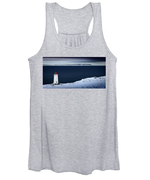 Skardsviti Lighthouse, Iceland Women's Tank Top